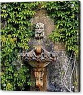 Fountain In The Walled Garden, Florence Acrylic Print