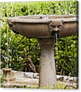 Fountain With Faces Acrylic Print
