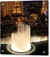 Fountains At Night Acrylic Print