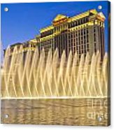 Fountains Of Bellagio In Front Of Caesar's Palace Hotel And Casi Acrylic Print