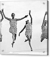 Four Dancers Leaping Acrylic Print