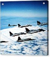 Four F-14 Tomcats And Three F-5 Tiger Acrylic Print