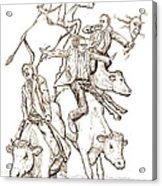 Four Mad Cowboys Of The Apocalypse Acrylic Print