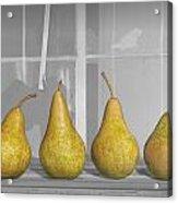 Four Pears On Windowsill Acrylic Print