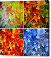Four Seasons In Abstract Acrylic Print