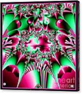 Fractal 12 Candycane Jester Acrylic Print