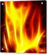 Fractal Fire Acrylic Print by Steve Ohlsen