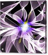 Fractal Flower . Dahlia Acrylic Print