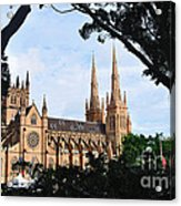 Framed Cathedral Acrylic Print