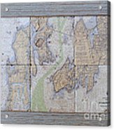 Framed Narragansett Bay Tile Set Acrylic Print