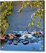 Framed Rapids Acrylic Print by Robert Bales
