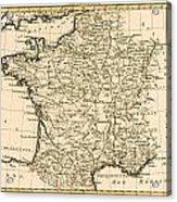 France By Regions Acrylic Print
