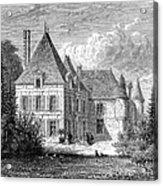 France: Wine Ch�teau, 1868 Acrylic Print