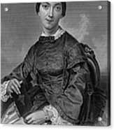 Frances Sargent Osgood (1811-1850). American Poet. Engraving From A Painting By Alonzo Chappel, C1873 Acrylic Print