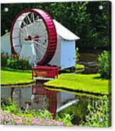 Franconia Notch Waterwheel Acrylic Print