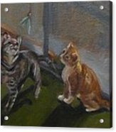 Frankie And Fiona Chasing The Green Faery Acrylic Print