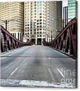 Franklin Orleans Street Bridge Chicago Loop Acrylic Print by Paul Velgos