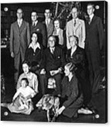 Franklin Roosevelt Family On Christmas Acrylic Print by Everett