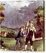 Franklins Experiment, June 1752 Acrylic Print