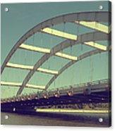 Freddie Sue Bridge Acrylic Print by Kristen Cavanaugh