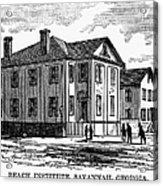 Freedmen School, 1868 Acrylic Print