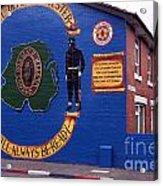 Freedom Corner Mural Belfast Northern Ireland Acrylic Print