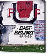 Freedom Corner Mural Belfast Acrylic Print