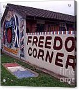 Freedom Corner Mural Acrylic Print