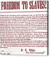 Freedom To Slaves Acrylic Print by Photo Researchers, Inc.