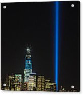 Freedom Tower And Tribute In Light Acrylic Print