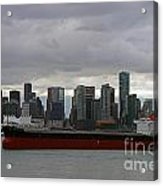 Freighter In Port Acrylic Print