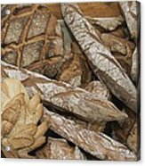 French Breads At A Bazaar In Provence Acrylic Print