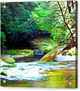 French Broad River Filtered Acrylic Print
