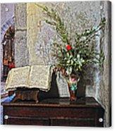 French Church Decorations Acrylic Print
