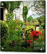 French Cottage Garden Acrylic Print