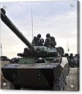 French Marines Lead A Convoy Of Combat Acrylic Print