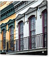 French Quarter Balconies Acrylic Print
