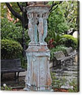 French Quarter Courtyard Statue New Orleans Acrylic Print