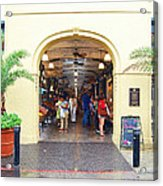 French Quarter French Market Entrance New Orleans Film Grain Digital Art Acrylic Print