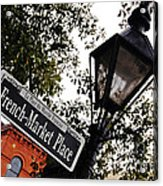 French Quarter French Market Street Sign New Orleans  Acrylic Print