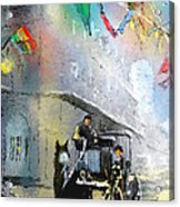 French Quarter In New Orleans Bis Acrylic Print