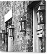 French Quarter Lamps Acrylic Print by Leslie Leda