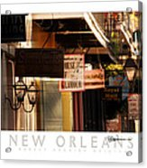 French Quarter Signs Acrylic Print