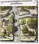 French: Sth. Carolina, 1562 Acrylic Print