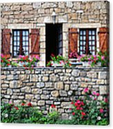 French Stone House Acrylic Print