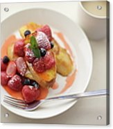 French Toast And Strawberries Source Acrylic Print