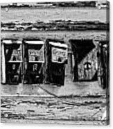 Freret Street Mailboxes - Black And White -nola Acrylic Print