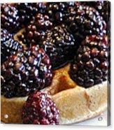 Fresh Blackberry Waffles Acrylic Print