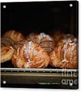 Fresh Croissants Paris Acrylic Print