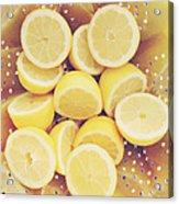 Fresh Lemons Acrylic Print